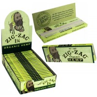 Zig Zag Organic Hemp Rolling Paper - 1 1/4 Ultra Thin Hemp Papers