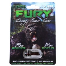 Fury 7 Days 12000 Male Enhancement Capsules