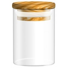 10ct Glass Jar With Wood Lid - 2oz