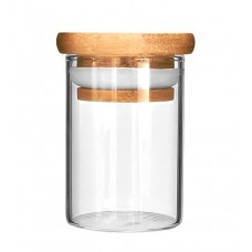 10ct Glass Jar With Wood Lid - 1oz