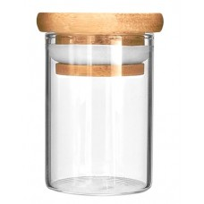 10ct Glass Jar With Wood Lid - 4oz