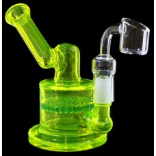 """5"""" Sidecar Honeycomb Color Art Water Pipe With Banger"""