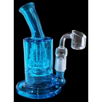 """6"""" Pyramid Shower Perk Color Art Cuve Water Pipe With Banger"""