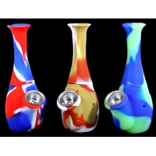 """2ct 6"""" Silicone Bottle Bubbler Water Pipe Assortment"""