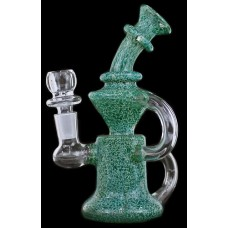 "7"" Frit Color Dual Tube Chamber Recycler Water Pipe"
