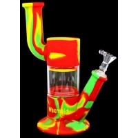 "9"" Waxmaid Robo Silicone + Glass Water Pipe"