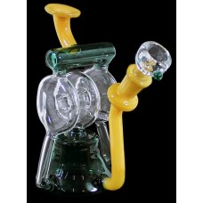 "7"" Triple Disc Chamber Recycler Water Pipe"