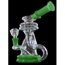 "7"" Triple Tube Color Rim Recycler Water Pipe"