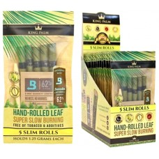 King Palm Natural Leaf Rolls - Slim Pouch-5 per-15 Units