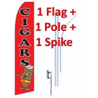 15' Cigars Windless Business Bow Swooper Feather Flag Kit