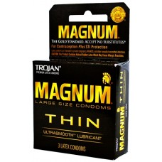 6ct Trojan Magnum Thin Lubricated Condoms