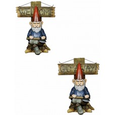 "16"" Grinchy Gnome Greeter (Gnome Go Away)"