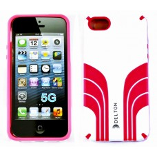 Delton iPhone 5 Two Tone Case White/Pink