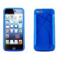 iPhone 5 Protective Cover Anchor Design-Blue